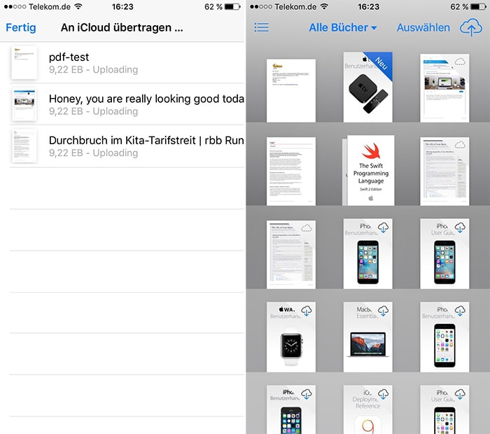 how to delete books from ibooks icloud