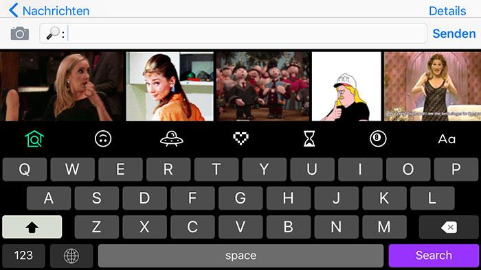 Gif Tastatur IPhone Nachrichten