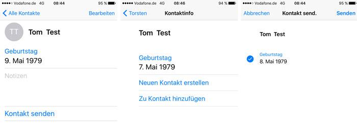 Kontakt Senden Whatsapp Geburtsdatum