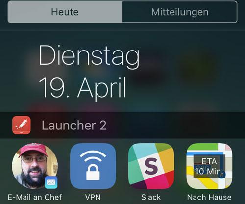 Launcher App Mitteilungszentrale