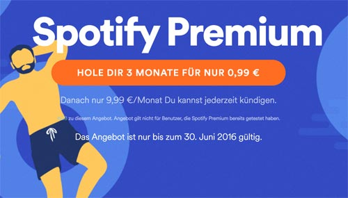 Spotify Premium Sonderpreis