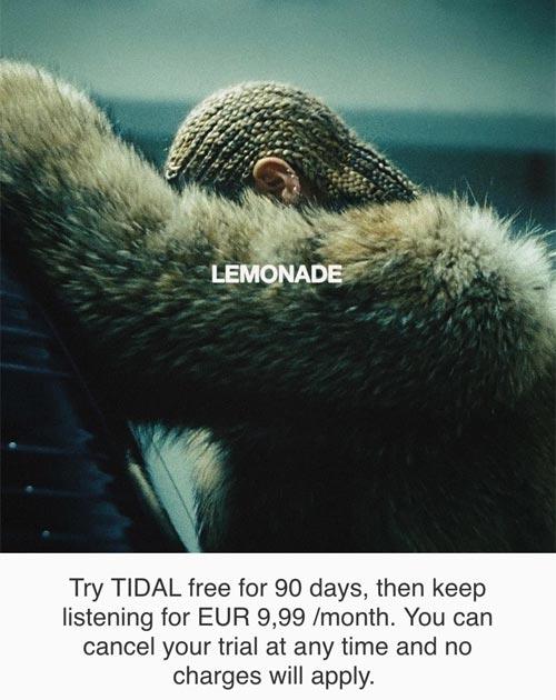 Beyonce Tidal