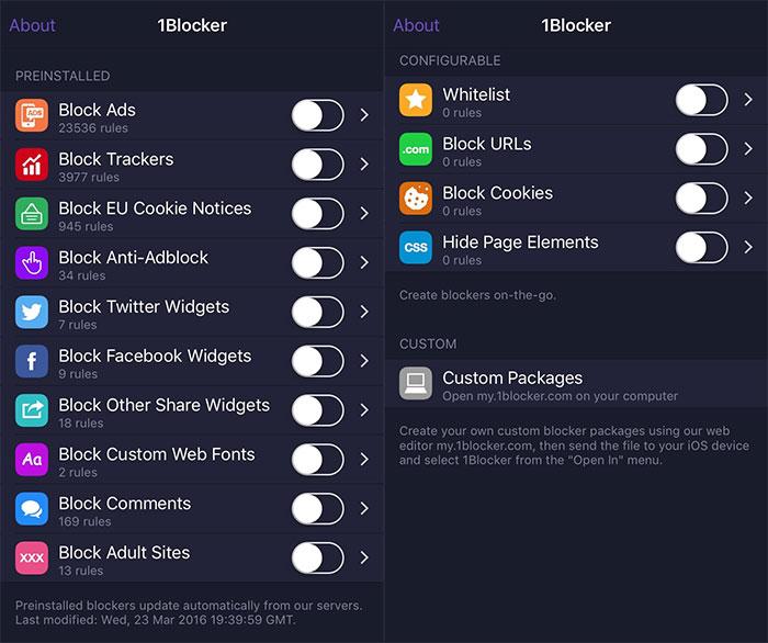 Block Config