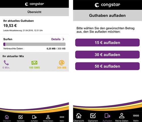 Congstar App Meincongstar
