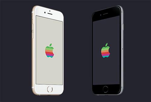 Apples Retro Logo Mit Einem Hauch Wwdc Hintergrunde In Allen
