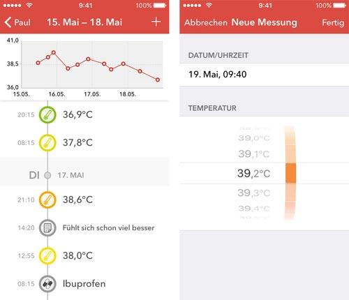 Feefy Fiebertagebuch App