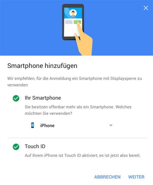 Google Anmeldung Iphone Mit 2 Faktor