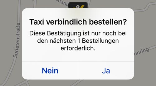 Mytaxi Bestellung Per App
