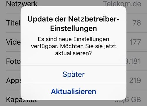 Telekom Netzbetreiber Einstellungen