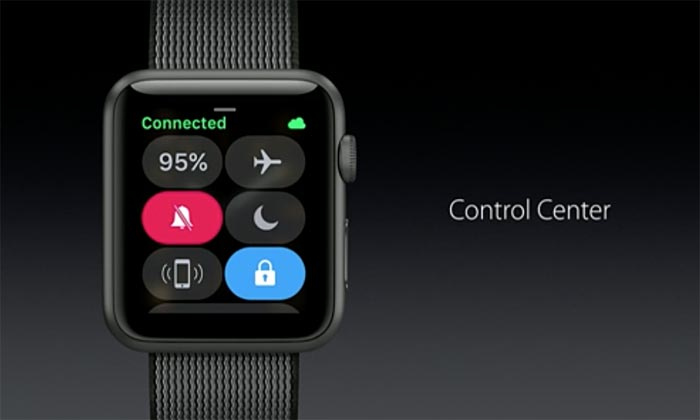 Watchos Control Center