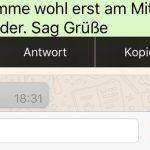Whatsapp Antwort