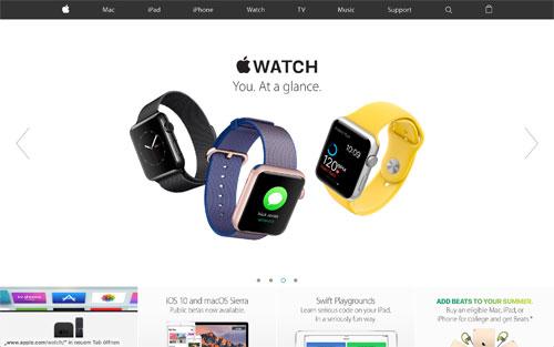 Apple Webseite