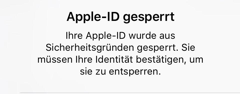 wenn apple id deaktiviert wurde