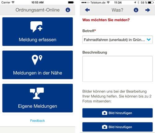 Ordnungsamt Online App