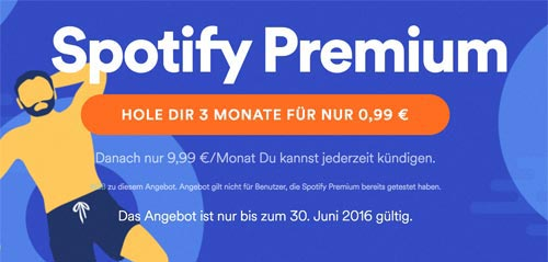 Spotify Premium Abo 99 Cent