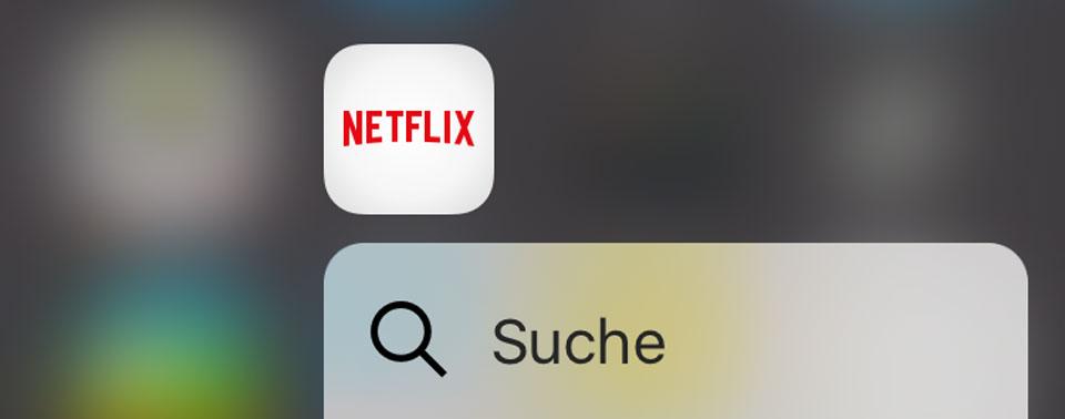 Netflix 3d Touch Header