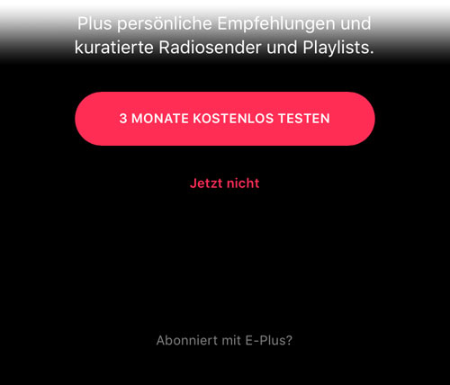 Apple Music E Plus