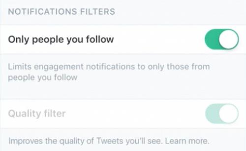 Twitter Benachrichtigungen Einstellungen