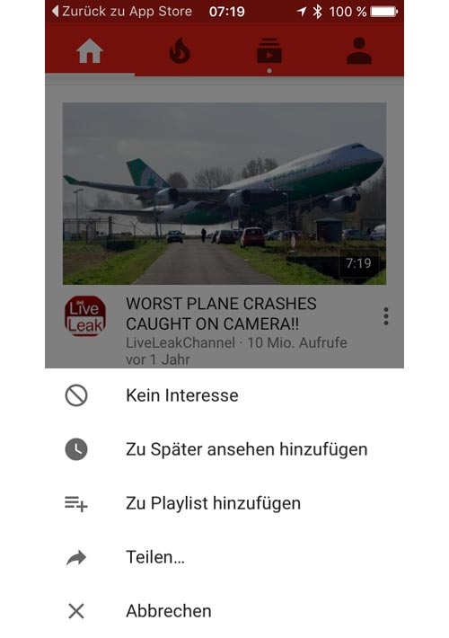 Youtube Kein Interesse