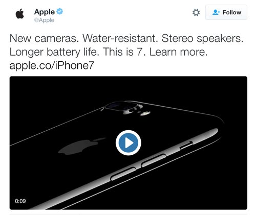 Apple Tweet