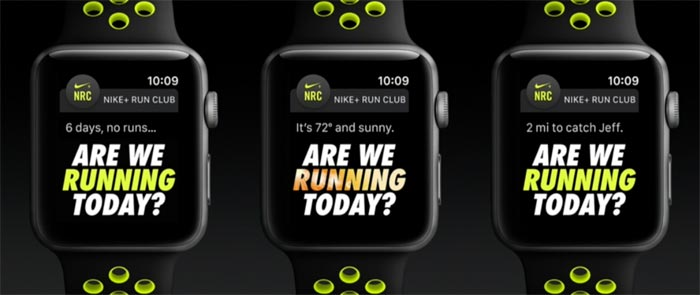 Apple Watch S2 Nike Plus Edition Screens