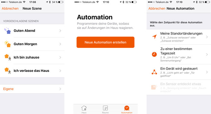 Ios 10 Home App Automation Und Szenen