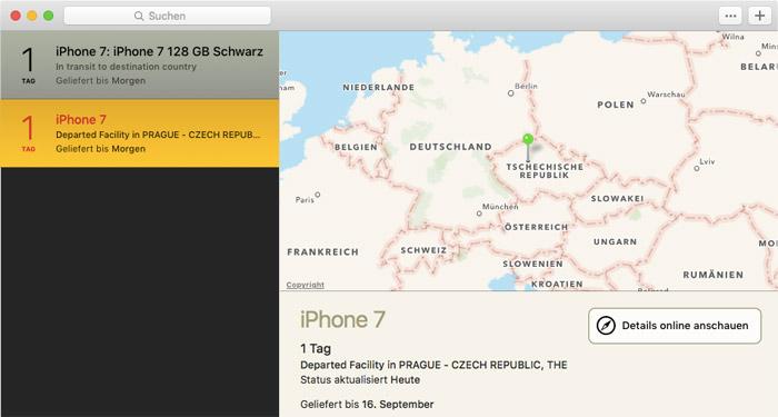 Iphone 7 Versandnachricht