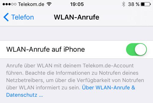 Iphone Wlan Anrufe Einstellungen