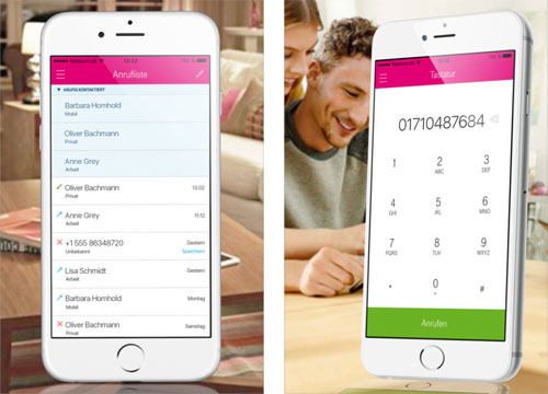 Telekom Hometalk App Screens