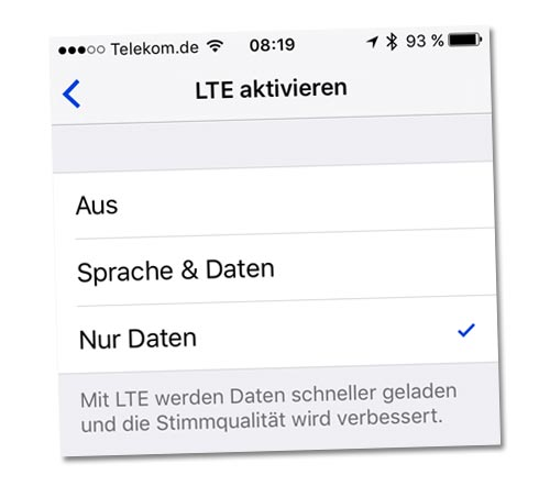 Volte Einstellungen Iphone