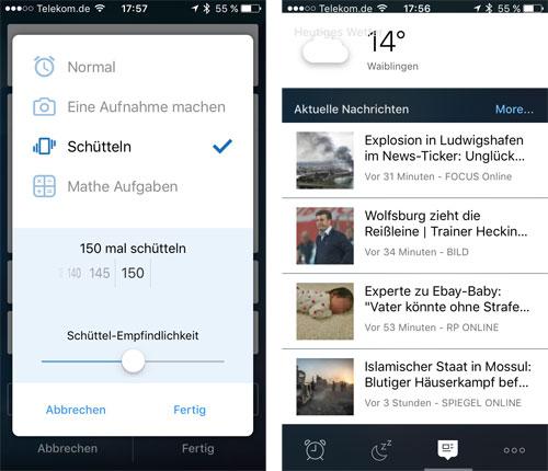 Alarmy Iphone Wecker Screenshots