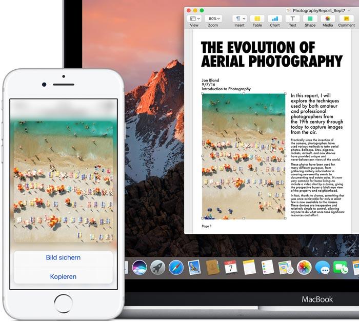 Allgemeine Zwischenablage Iphone Mac