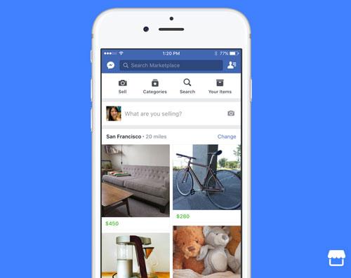 Facebook Marktplatz Screenshot