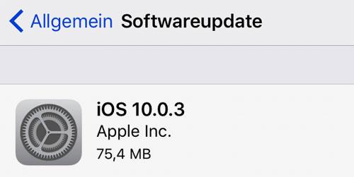 Ios 10 0 3 Update