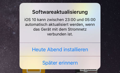 Ios Softwareaktualisierung Spaeter Erinnern 1