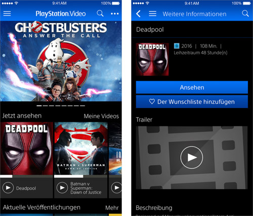 Playstation Video App Iphone Ipad