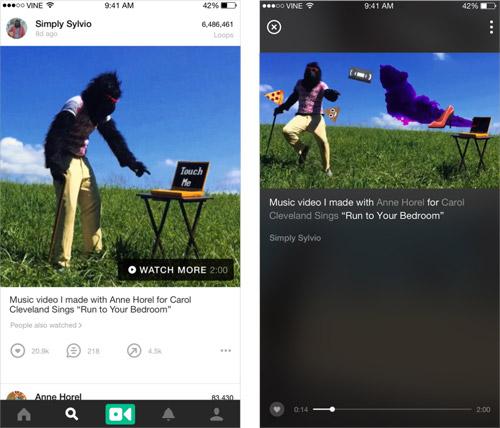 Vine Screenshots Iphone
