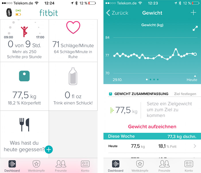 Fitbit Charge 2 Gewicht