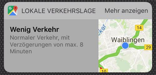 Google Maps Verkehrs Widget