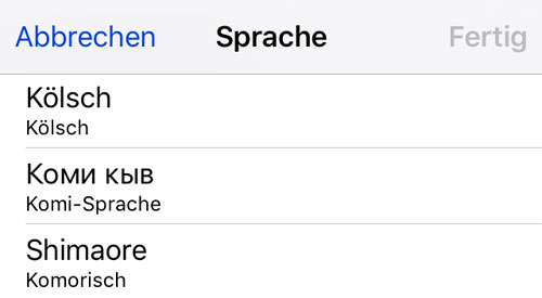 Iphone Sprache Dialekt