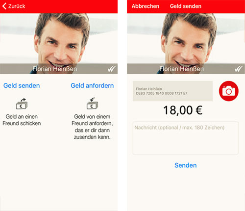 Kwit Screenshots Sparkasse