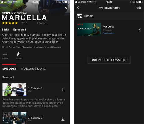 how to watch netflix offline on iphone