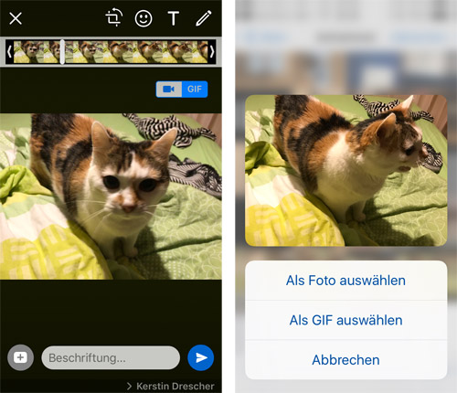 Whatsapp Gif Aus Videos Und Live Photos