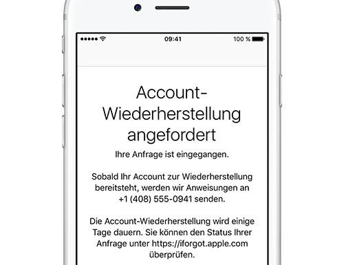 Apple Id Passwort Verloren