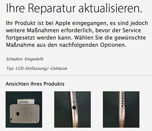 Apple Iphone 6s Akku Reparatur Abgelehnt