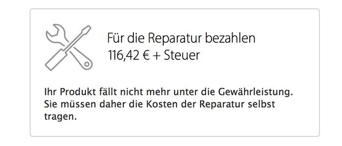 Iphone apple reparatur kosten