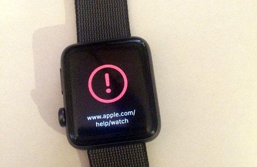 Apple Watch Ausrufezeichen