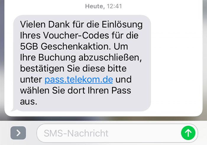 Buchung Telekom 5gb