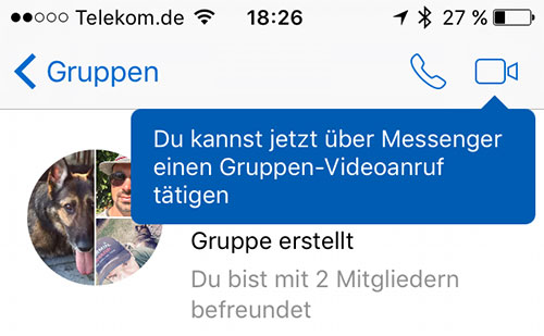 Facebook Gruppen Video Chat