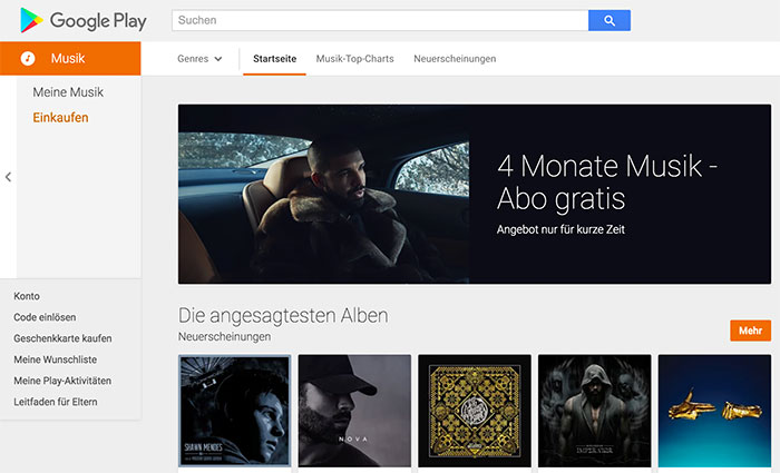 Google Play Music Probeabo